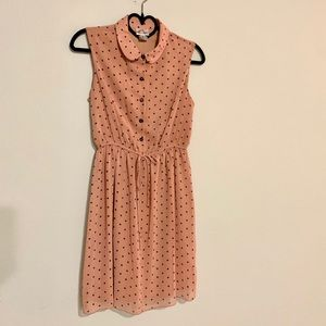 Sweet blush polka dot dress
